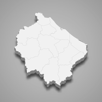 ナラティワートの地図はタイの州です