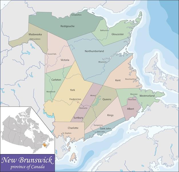 Карта нью-брансуика