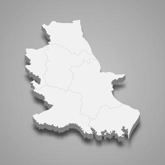 ノンブアランプーの地図はタイの州です