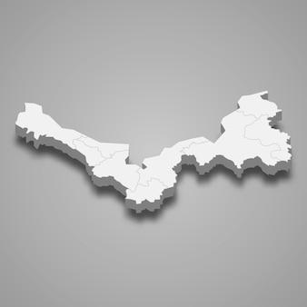 ノンカイの地図はタイの州です