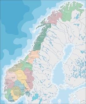 노르웨이의지도