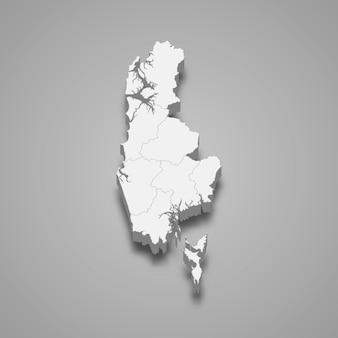 パンガーの地図はタイの州です