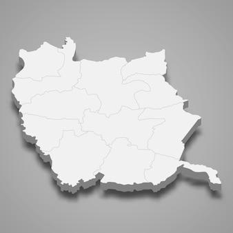 ピチットの地図はタイの州です