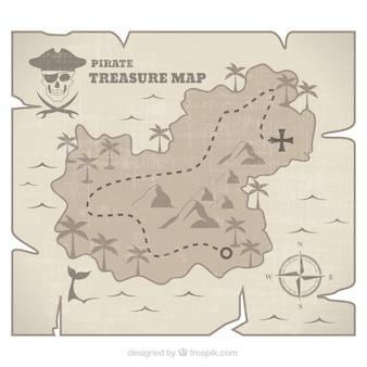 海賊島の宝の地図