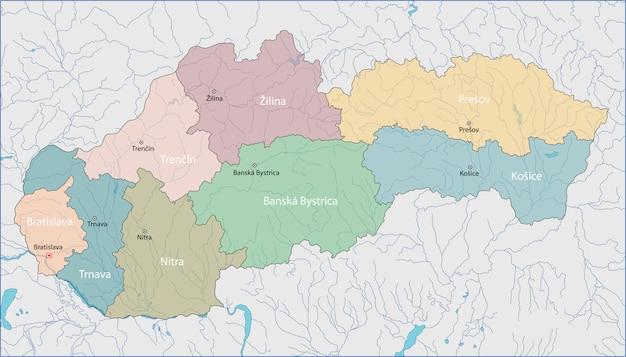 슬로바키아의지도
