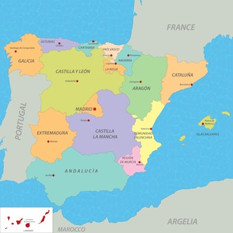 スペインの地図