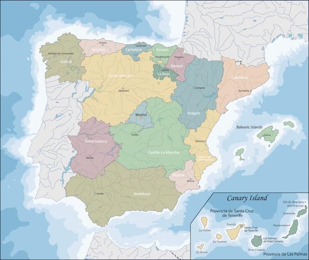 스페인의지도