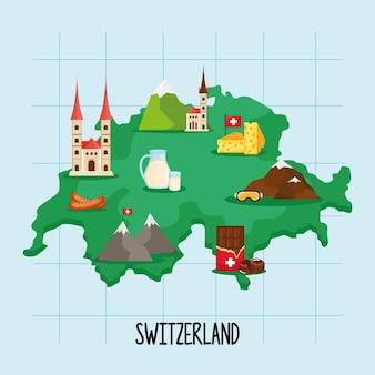 스위스지도