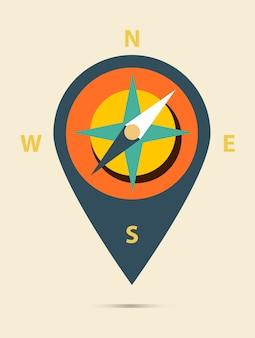 Map pin flat design style modern icon, pointer vector