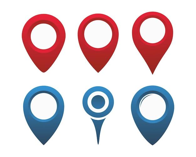 Плоский дизайн набора значков булавки карты. плоский дизайн набора значков местоположения на карте pin-код для веб- и мобильных приложений. коллекция навигационных булавок