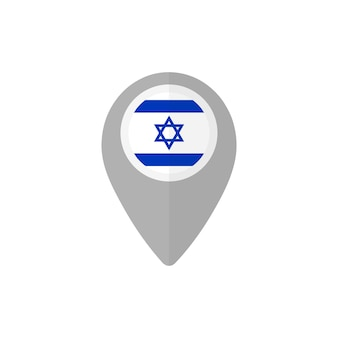 Map pin with the flag of israel