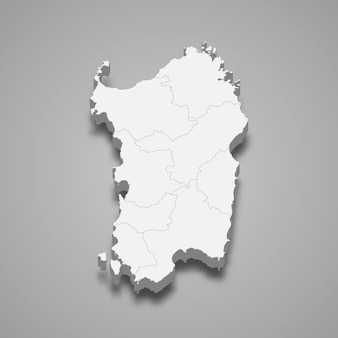 イタリアの地図地域