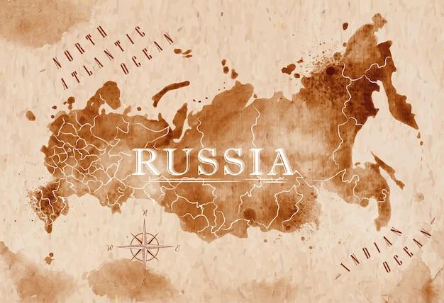 Карта россии ретро