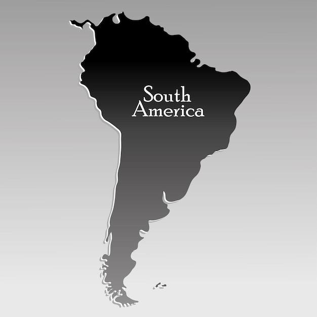 Map south america