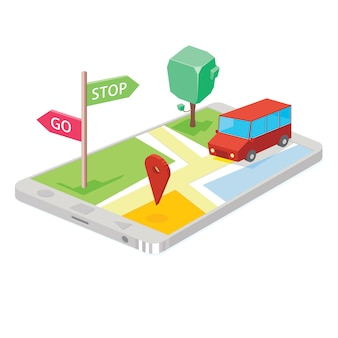Map technology on smartphone