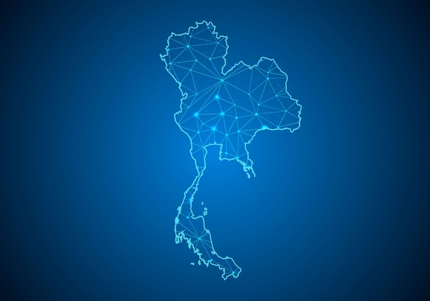 Map of thailand.