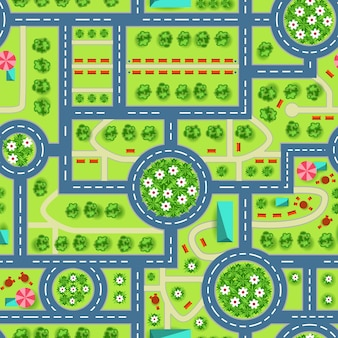 Map of a top view from the city