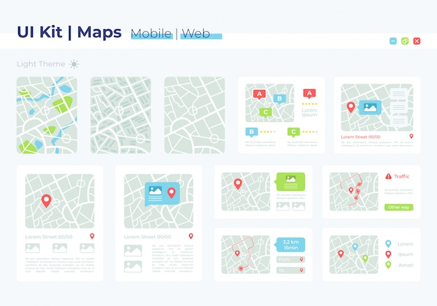 Map ui elements kit
