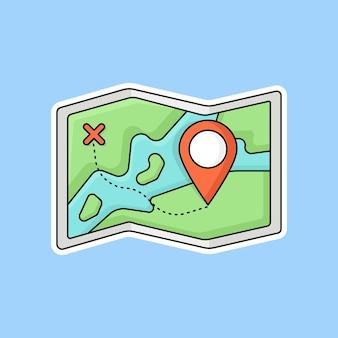 フラットなデザインのピンポインタでマップ
