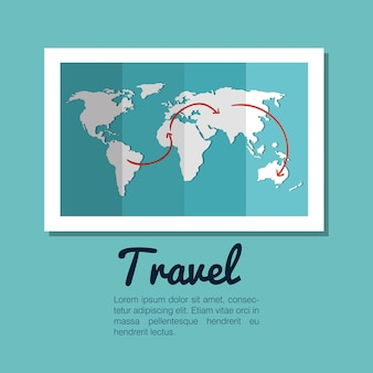 Map world globe travel design