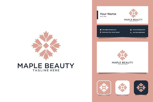 Maple beauty geometry logo design and business card