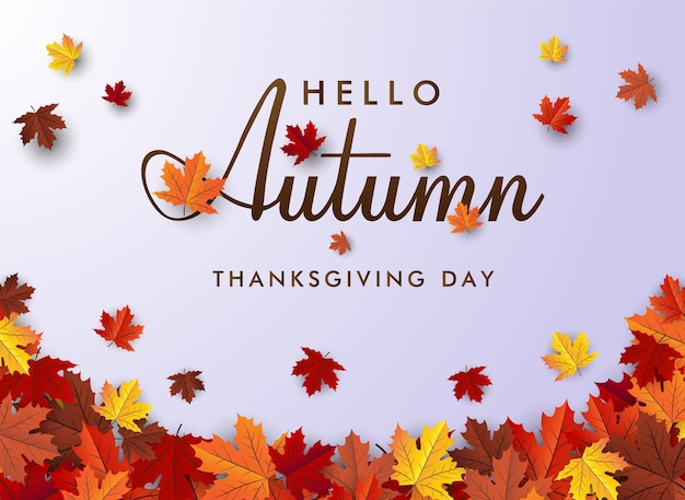 Maple leaf autumn banner vector background