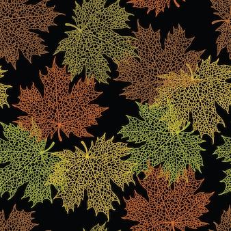 Maple leaf dark background