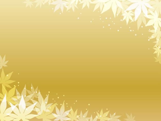 Maple leaf frame and background