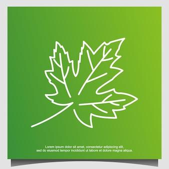Кленовый лист дизайн логотипа вектор