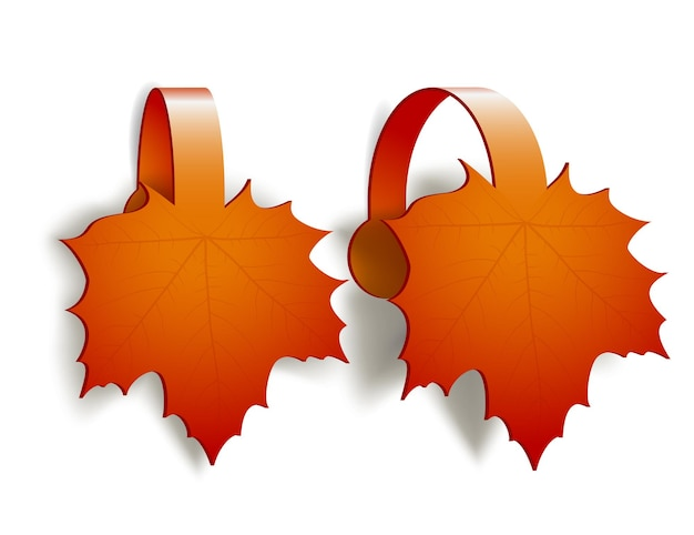 Maple leaves advertising wobblers isolated on white background