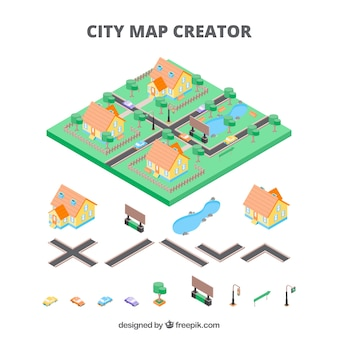 Mapmaker for cities in isometric view