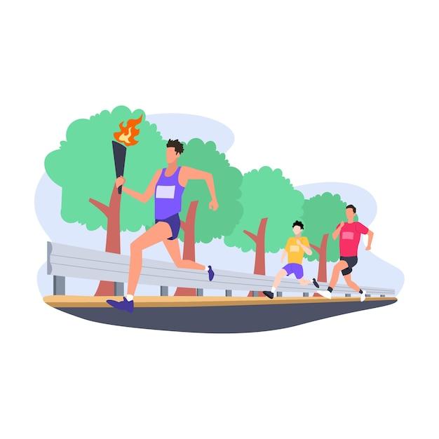 Иллюстрация квартиры соревнований марафона