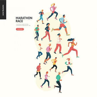 Marathon race group