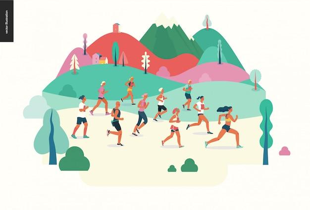 Marathon race group