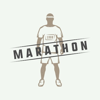 Marathon or run logo