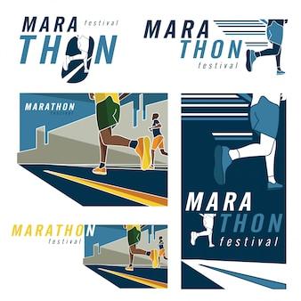 Marathon runner logo