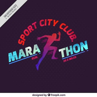 Marathon sport city club background
