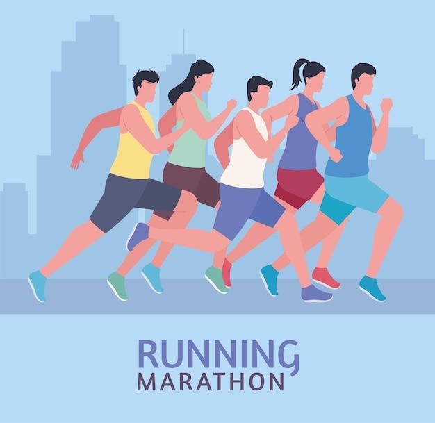 Marathon sports people