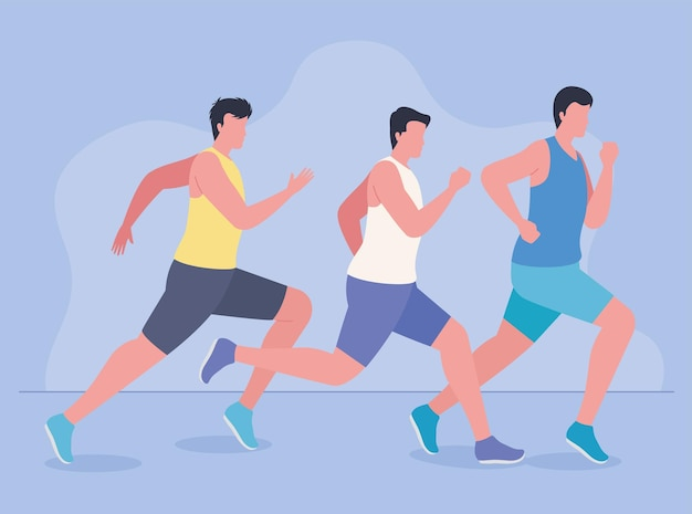 Marathon sportsmen running