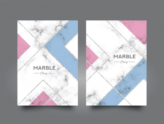 Marble abstract book cover design template