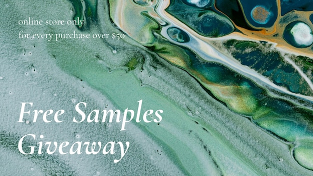 Marble art sale template giveaways for fashion blog banner