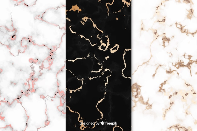 Marble background set