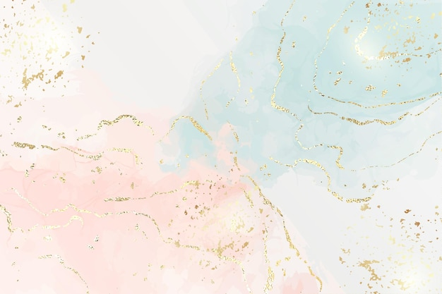 Marble background with gold foil textured stripes and glitter dust