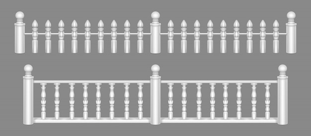 Marble balustrade, balcony railing or handrails.