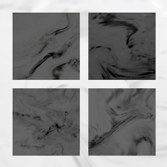 Marble black background vector collection. geode stone with texture. modern trendy design template for wedding, invitation, web, banner, card, pattern, wallpaper illustration.