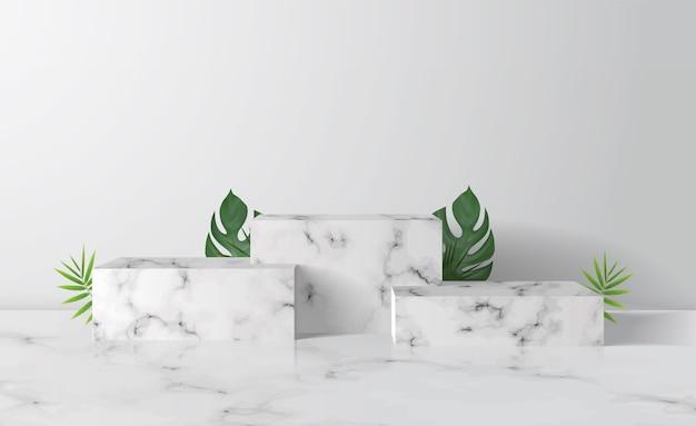 Marble box showcase podium