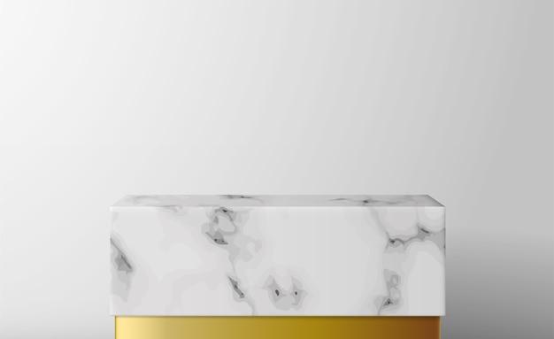 Подиум-витрина из мраморной коробки