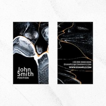 Marble business card template vector in luxury style