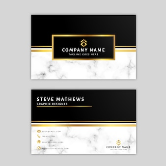 Marble business card template