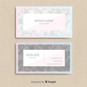 Marble effect business card
